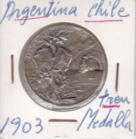MEDALLA DE PLATA DE LA CIUDAD DE BUENOS AIRES  A LOS DELEGADOS DEL GOBIERNO DE CHILE 25 MAYO 1903 (COIN) SILVER,ARGENT - Argentina