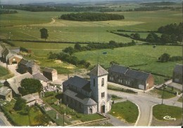 Bois Et Borsu -- Vue Aérienne.   -  Eglise De Bois.  (2 Scans) - Clavier