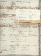 Empire Français / Passe-port à L'Intérieu/ BENOIT/Voyageur Commerce/TROYES/Aube/ORLEANS/Loiret/ Metz/Moselle/1854  AR11 - Non Classés