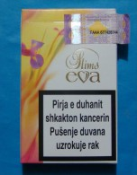 KOSOVO EVA SLIMS EMPTY HARD PACK, GREEK CIGARETTES KOSOVO EDITION WITH FISCAL REVENUE STAMP. - Empty Tobacco Boxes