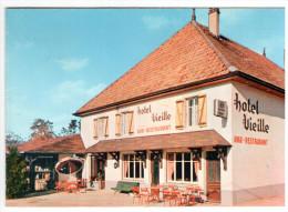 CPSM DOUBLE  LORAY DOUBS BAR RESTAURANT HOTEL VIEILLE ORCHAMPS VENNES - France