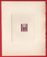 TOGO - Taxe N°53 - Casque Coquillage - République Autonome De 1957 -  Epreuve D'artiste Du 10f En Brun-violet.Signée. - Costumes