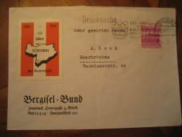 INNSBRUCK 1963 To Saar Saarbrucken Germany Poster Stamp Label Vignette 1964 Austria Winter Olympic Games Olympics Cach C - Inverno1964: Innsbruck