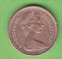 GRANDE BRETAGNE ELIZABETH II   1/2 NEW  PENNY   ANNEE 1971    LOT100389 - 1971-… : Monnaies Décimales