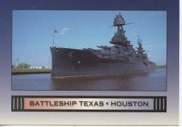 Batleship Texas - Houston : Vétéran De La 1ère Et 2ème Guerre Mondiale (CP Neuve) - Warships