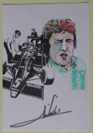 Formule I - Mario ANDRETTI - Dédicace - Hand Signed - Autographe Authentique  - - Grand Prix / F1