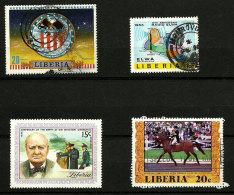 Liberia 4 TP Oblitérés  1972-77 - Liberia