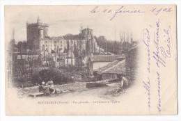 MORTHEMER. - Vue Générale. - Le Château Et L'Eglise. Carte Précurseur - Autres Communes