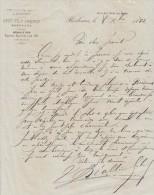 Lettre 1882 SEZE Fils Frères Vins Fins De Médoc BORDEAUX Gironde - Francia