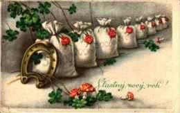 Bonne Année - 572 Tréfle Sacs D'argent Champignon - Nouvel An