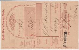 Sachsen Nv Ra1 Altenburg Thüringen Postschein NDP 1868 (1) - Sachsen