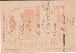 Sachsen Nv L1 Altenburg Thüringen Postschein NDP 1868 (2) - Sachsen