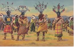 POSTAL DE DEVIL DANCE OF THE APACHE INDIANS (INDIO) (SOUTHWEST POST CARD) - Indios De América Del Norte