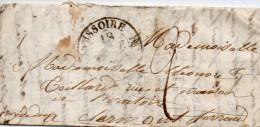 Cachet 12 ISSOIRE, Avec Correspondance D'EYRY Du 17/9/1833, Taxe 2 Pour Clermont - 1801-1848: Précurseurs XIX