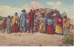 POSTAL DE NAVAJO INDIANS AT HOME (INDIO) (SOUTHWEST POST CARD) - Indios De América Del Norte