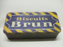Ancienne BOITE Métal BISCUITS BRUN N° 284 - Boîtes