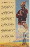 POSTAL DE INDIAN VS. OIL (INDIO)  (SOUTHWEST POST CARD) - Indios De América Del Norte