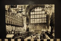 Cp, UK, ANGLETERRE - THE CHOIR - ST GEORGE'S CHAPEL WINDSOR 1964 - Windsor Castle