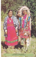 POSTAL DE GREETINGS FROM KALISPELL, MONTANA (JEFE INDIO) - Indios De América Del Norte