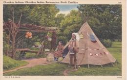 POSTAL DE CHEROKEE INDIANS RESERVATION, NORTH CAROLINA (INDIO) - Indios De América Del Norte