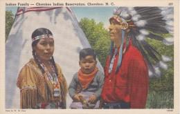 POSTAL DE INDIAN FAMILY - CHEROKEE INDIAN RESERVATION, NORTH CAROLINA (INDIO) - Indios De América Del Norte