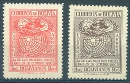 BOLIVIE - 1950 - MNH/*** LUXE - UNO ONU - Yv PA 115-116 - Lot 13600 - Bolivie