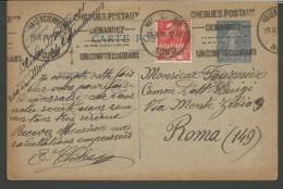 IPE54--STORIA POSTALE--  POST COMPLET,  1931,  VALENCIENNE---ROMA,  ITALIA, - Entiers Postaux