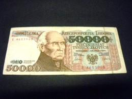 POLOGNE 50000  Zlotych 01/02/1989, Pick KM N° 153 , POLSKA, POLAND - Pologne