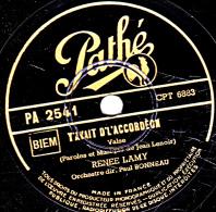 78 Trs 25 Cm - état EX -  RENEE LAMY - Y AVAIT D'L'ACCORDEON - VOULEZ-VOUS DANSER GRAND'MERE ? - 78 T - Disques Pour Gramophone
