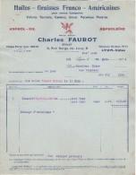 69 LYON VAISE  FACTURE 1934 Huiles Graisses ASPROL OIL Charles FAUROT  *  Y1 - France