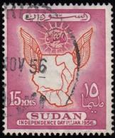 SUDAN - Scott #118 Map Of Sudan / Used Stamp - Sudan (1954-...)