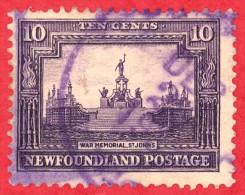 Canada Newfoundland # 169 - 10 Cents - O F - Dated  1929-31 - War Memorial / Monument De Guerre - Terre-Neuve