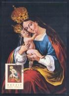 Slovenia Slowenien Slovenie 1995 Maximum Card: Religion Brezje Holly Mary - Special Cancellation - Christendom