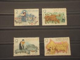 VIETNAM NORD - 1962 ANIMALI 4 Valori - NUOVI(++) - Vietnam