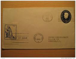 USA 1966 Wildwood NJ To Newburgh NY Cadillac Correo Local Post 10c Primer Dia First Day Sobre Entero Postal Stationery - Lokalausgaben