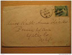 USA 1888 It NY To Penn Yan 2 Cents Stamp Sello Sobre Cover Lettre - 1847-99 Unionsausgaben