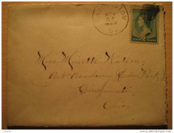 USA 1888 Cardington Ohio To Cincinnati 2 Cents Stamp Sello Sobre Cover Lettre - 1847-99 Unionsausgaben