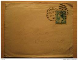 USA 1889 Cincinnati Ohio To Cardington + 4 Cancel + 2 Cents Stamp Sello Sobre Cover Lettre - 1847-99 Unionsausgaben