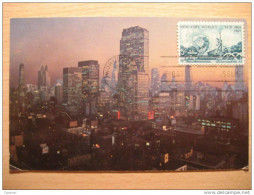 USA 1964 New York Manhattan World's Fair Stamp Sello FD Primer Dia Post Maxi Card Tarjeta Postal Maxima - Cartoline Maximum