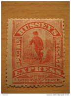Hussey's Express Special Message 54 Pine St NY Scott 87L75 Cartero Postman Local Stamp - Lokalausgaben