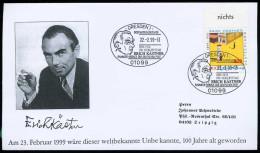 72295) BRD - Michel 2035 - SoST In 01099 DRESDEN 1 Vom 22.02.1999 - Erich Kästner - [7] République Fédérale