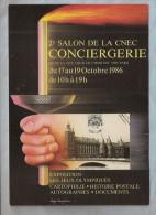 """CPM - Salon - 2e Salon De La CNEC - Conciergerie 1986 - Exposition """"les Jeux Olympiques"""" - Création Luigi Castiglioni... - Collector Fairs & Bourses"""