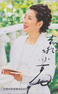 Télécarte Japon / 110-186695 - Femme - NISSAY - GIRL Japan Phonecard - Frau Versicherung Telefonkarte - Assu 2168 - Japón
