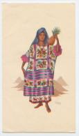 Papier à Lettre Illustré Par Munoz Lopez, Triptyque, Printed In Mexico, Mexique, Ananas, Folklore, TBE - Old Paper