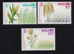 MALAWI, 1980, Mint  Lightly Hinged Stamps, Agricultural Products, 364=367 , #4686 (3 Values Only) - Malawi (1964-...)