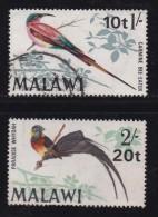 MALAWI, 1970, Used Stamps, Birds Overprint, 132-133 , #4663 - Malawi (1964-...)