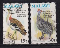 MALAWI, 1976, Used Stamp(s), Birds Overprint  , 271-272, #4674 - Malawi (1964-...)