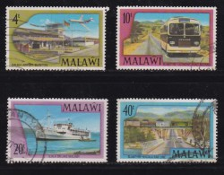 MALAWI, 1977, Used Stamp(s), Airport-Railways , 281-284, #4677 - Malawi (1964-...)