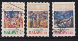 MALAWI, 1978, Used Stamp(s), Easter , 293=296, #4680 (3 Values) - Malawi (1964-...)