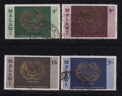 MALAWI, 1969, Used  Stamp(s), I.L.O. 50th Anniversary , 106-109  #4661 - Malawi (1964-...)